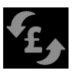White halftone update pound cost icon vector