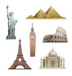 World landmarks vector