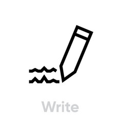 write icon editable outline vector image