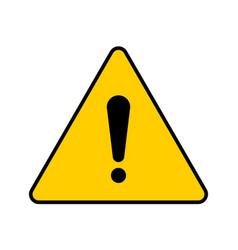 Yellow triangular hazard warning symbol vector