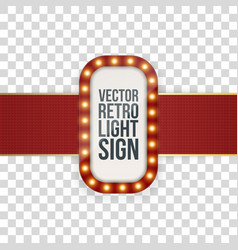 advertising banner realistic template with lamps vector image vector image