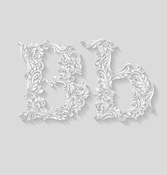 Decorated letter b vector image vector image