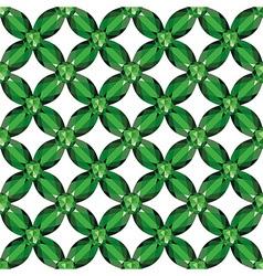 Flower Mesh emeralds seamless texture vector image vector image