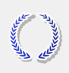 laurel wreath sign new year bluish icon vector image