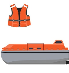 Life boat and jacket vector image vector image