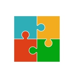 Four piece puzzle vector image