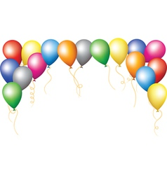 holiday border of colourfull balloons vector image vector image