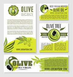 olive oil product poster templates vector image vector image