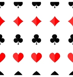 Seamless poker background with suits vector image vector image