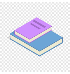 stack of two books isometric icon vector image