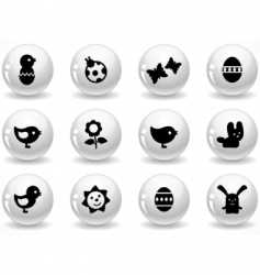 web buttons easter elements vector image