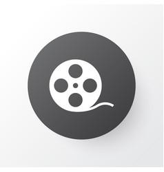 film reel icon symbol premium quality isolated vector image