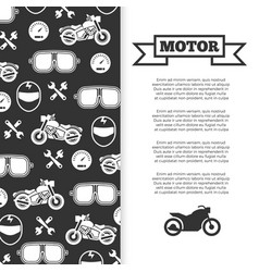 motorbike motorcycle motor banner background vector image vector image
