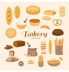 Set of bakery vector image vector image