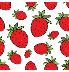 Strawberry seamless pattern for your design vector image