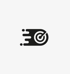 Target logo design arrow goal aim logotype vector