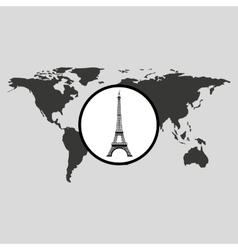 traveling world paris monument design graphic vector image vector image