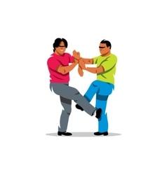 Wing Chun kung fu sparring Cartoon vector image