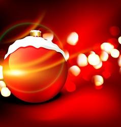 christmas ball design vector image vector image