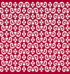 seamless repeating pattern with decorative vector image vector image
