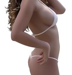 Woman Body In Bikini vector image vector image