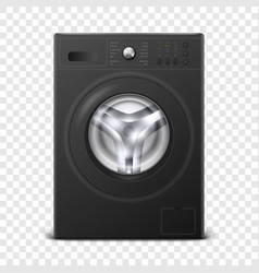 3d realistic modern black steel washing vector