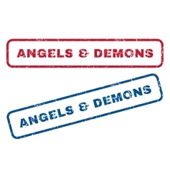 Angels Demons Rubber Stamps vector