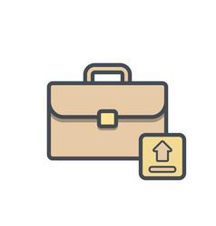 bag briefcase business portfolio suitcase vector image
