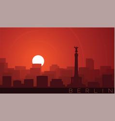Berlin low sun skyline scene vector