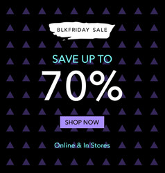 black friday sale web banner design template vector image