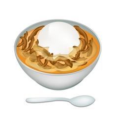 Bowl of Sweet Dumplings in Ginger Tea vector