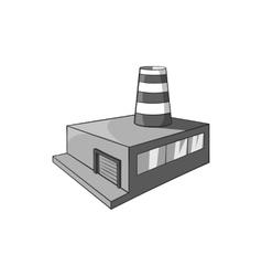 Chemical plant icon black monochrome style vector