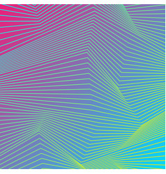 Colorful curved lines refraction pattern design vector