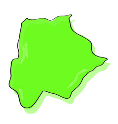 comic drawing of a map of botswana vector image