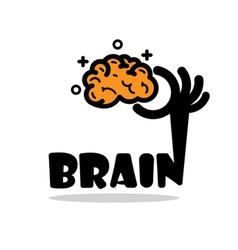 Creative brain sign ideaflat design vector