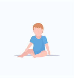 cute baboy infant sitting toddler childhood vector image