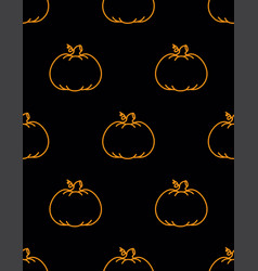 cute background pumpkin vector image