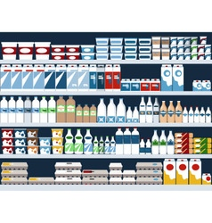 Dairy aisle vector image