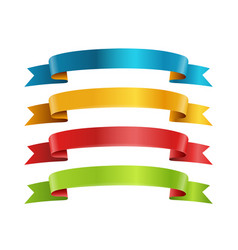 different color ribbons collection template for a vector image