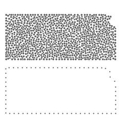 Dot contour map of kansas state vector