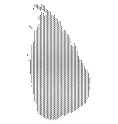 Dot sri lanka island map vector