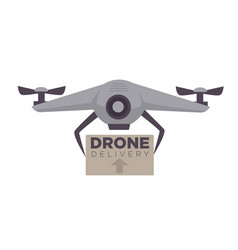 drone delivery modern technology parcel air vector image