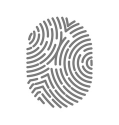 Fingerprint type with circular line signs isolated vector
