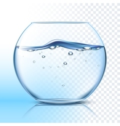 Fishbowl with water flat pictograph vector