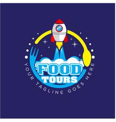 food circle logo designs vector image