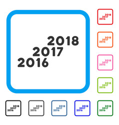 from 2016 to 2018 levels framed icon vector image