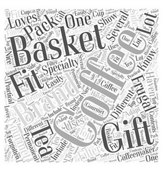 Frugal Gift Baskets Word Cloud Concept vector