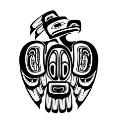 haida thunderbird tattoo vector image