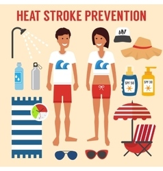 Heat sun stroke prevention vector image