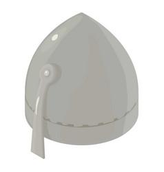 helmet knight warrior icon isometric 3d style vector image